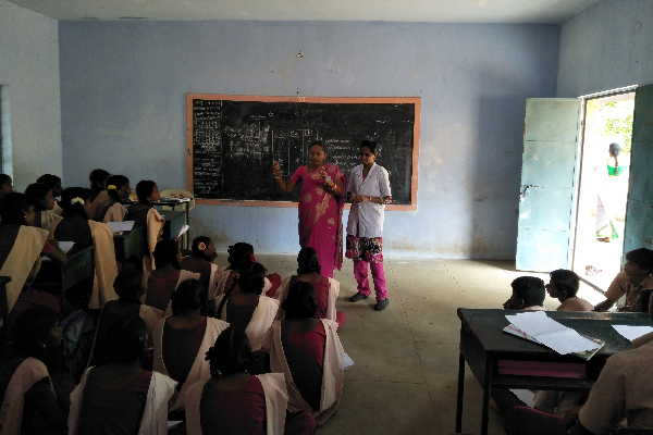 Stress management for school students at Thiruvellarai school