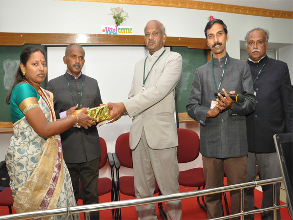 Momento awarded- AVVM Sri Pushpam college, Tanjore